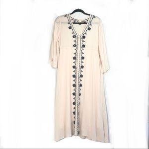 Pinkblush Long Sleeve Maternity Dress W/ Embroid